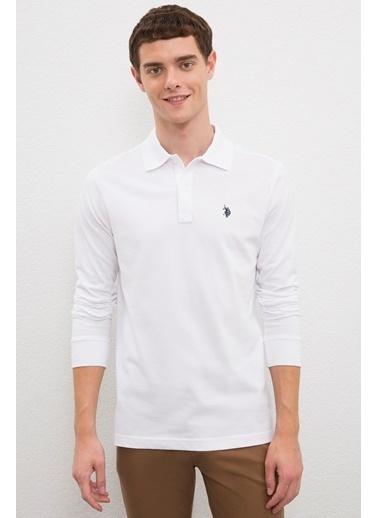 U.S. Polo Assn. US Polo ASSN Erkek Sweatshirt G081GL082 1082611 G081GL082 1082611015 Beyaz